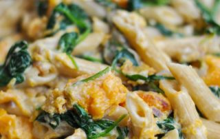 Penne with Butternut Squash & Spinach