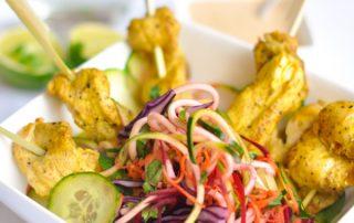 chicken satay salad