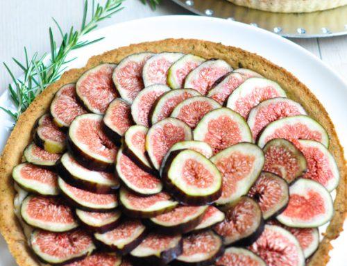 Fresh Fig Tart with a Rosemary Crust and Lemon Cream