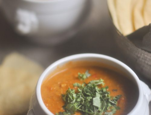 Spiced Carrot, Lentil & Coconut Soup