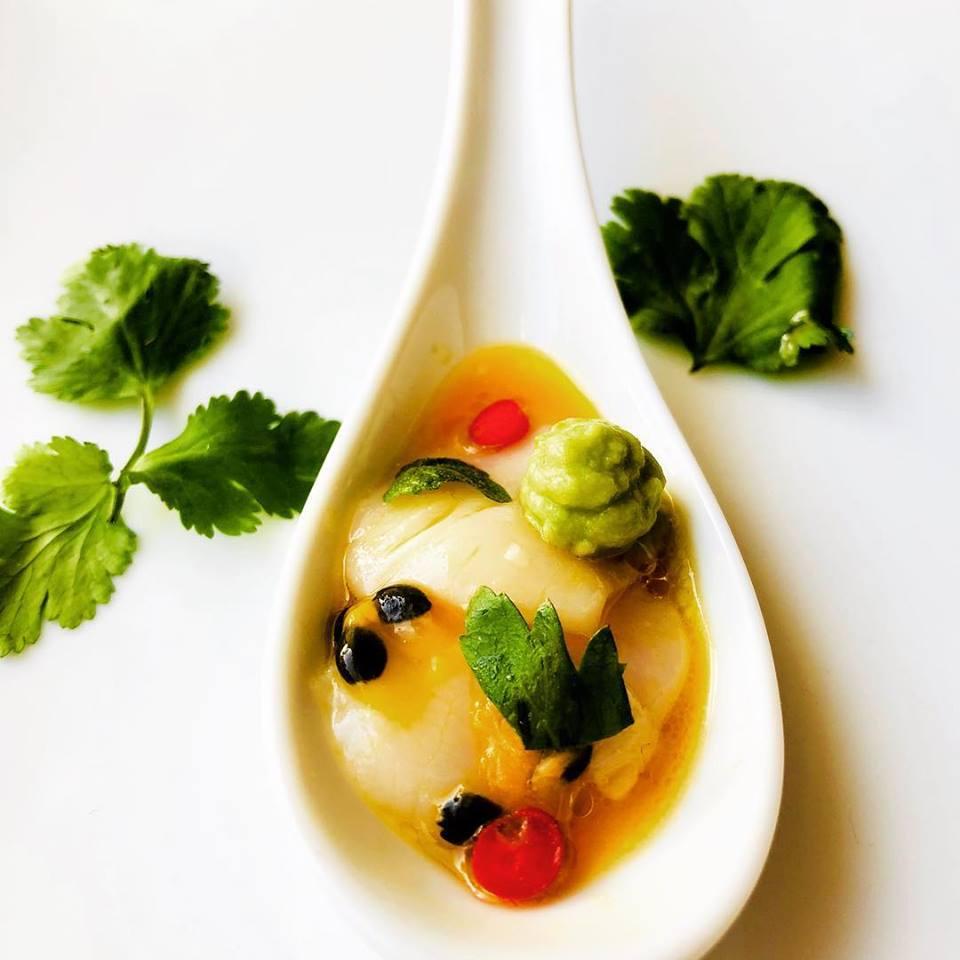 SpicyFig - Riviera Catering -Scallop Ceviche Canape