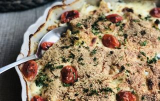 fennel and cherry tomato gratin