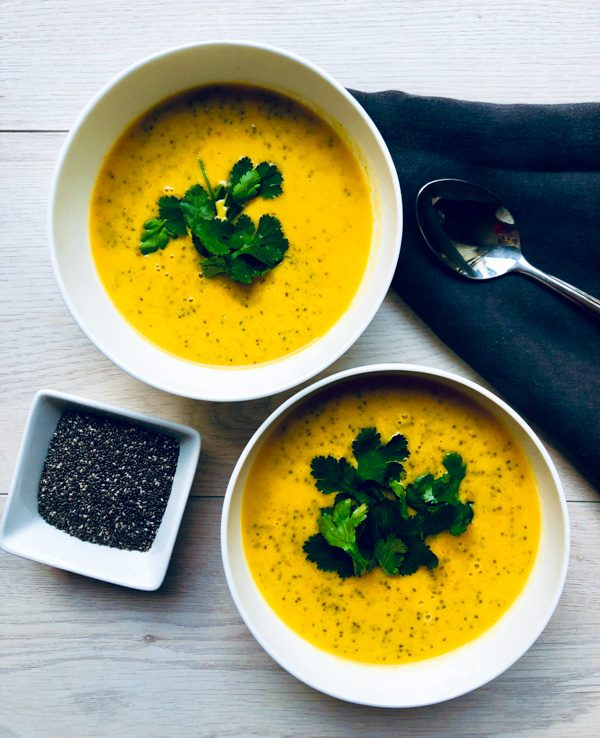 , Coconut, Carrot & Chia Soup, SpicyFig, SpicyFig