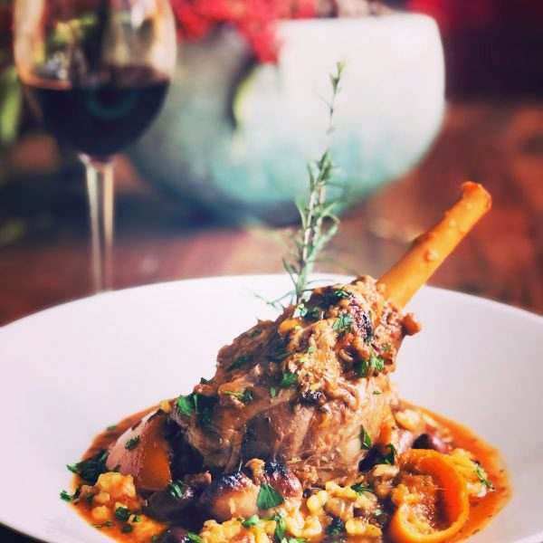 , Slow Cooked Lamb Shanks with Olives & Orange, SpicyFig, SpicyFig