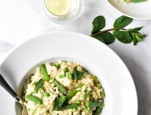 Asparagus Risotto with Peas, Mint and Lemon