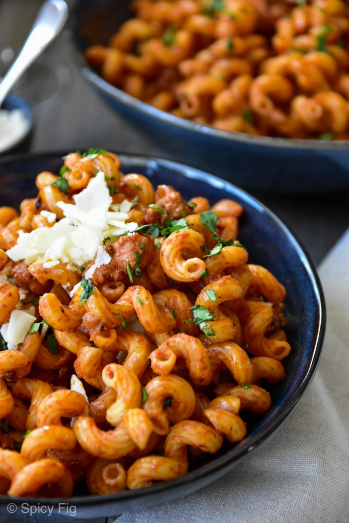 Sausage pasta recipe, Simple Sausage Pasta- 30-minute recipe, SpicyFig, SpicyFig