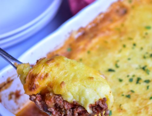 Bloody Mary Cottage Pie with Cheddar Mash