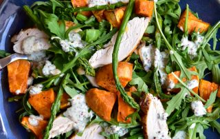 Chicken, Sweet Potato and Asparagus Salad