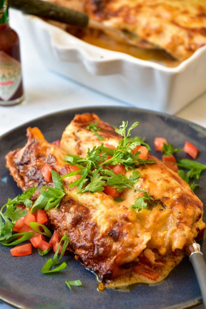 mushroom and pepper enchiladas, Wild Mushroom & Pepper Enchiladas with Chipotle Cream Sauce, SpicyFig